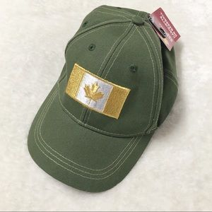 Canada Flag Gold Embroidered Cap Baseball Hat